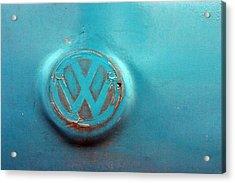 Turquoise Veedub Acrylic Print by Jez C Self