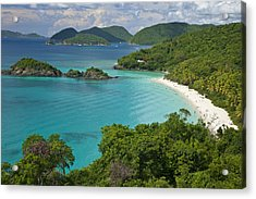 Turquoise Water At Trunk Bay, St. John Acrylic Print by Michael Melford