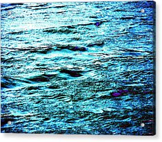 Turquoise Water Acrylic Print by Beth Akerman