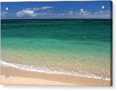 Turquoise Water Of Kanaha Beach Maui Hawaii Acrylic Print by Pierre Leclerc Photography