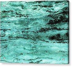 Turquoise Water Acrylic Print by Paul Tokarski