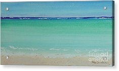 Turquoise Waters Long Abstract Acrylic Print