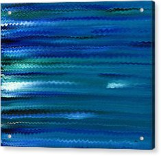 Turquoise Waves Acrylic Print