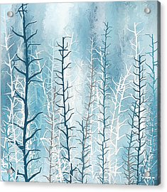 Turquoise Winter Acrylic Print by Lourry Legarde