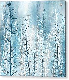 Turquoise Winter Acrylic Print