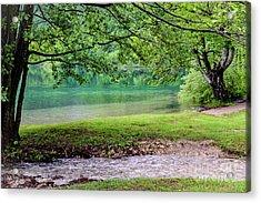 Turquoise Zen - Plitvice Lakes National Park, Croatia Acrylic Print