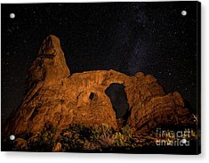 Acrylic Print featuring the photograph Turret Arch And The Milky Way - Utah by Gary Whitton