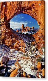 Acrylic Print featuring the photograph Turret Arch Through North Window Arches National Park Utah by Dave Welling