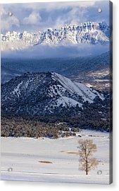 Turret Ridge In Winter Acrylic Print