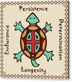 Turtle Animal Spirit Acrylic Print