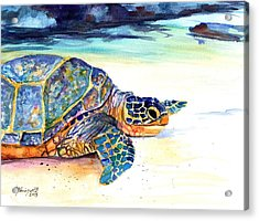 Turtle At Poipu Beach 2 Acrylic Print