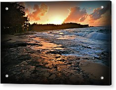 Turtle Bay Sunset 1 Acrylic Print
