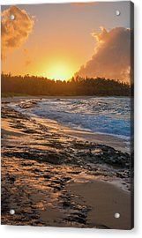 Turtle Bay Sunset 3 Acrylic Print