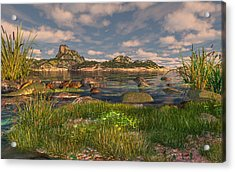 Turtle Cove Acrylic Print by Mary Almond