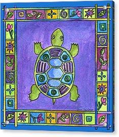 Turtle Acrylic Print by Pamela  Corwin
