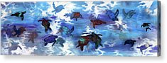 Turtles In Heaven Acrylic Print