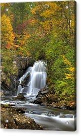 Turtletown Creek Falls Acrylic Print by Debra and Dave Vanderlaan