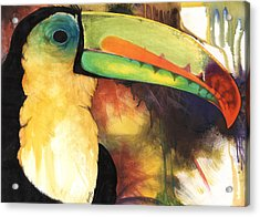 Acrylic Print featuring the mixed media Tusanii by Anthony Burks Sr