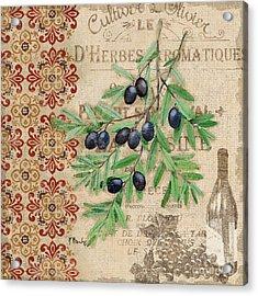 Tuscan Black Olives Acrylic Print
