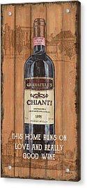 Tuscan Chianti 2 Acrylic Print by Debbie DeWitt