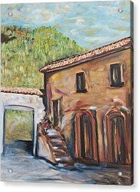 Tuscan Convent Acrylic Print