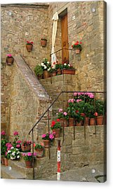 Tuscan Cottage Acrylic Print by Donna Corless