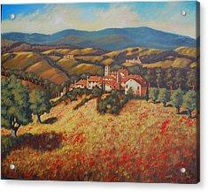 Tuscan Countryside Acrylic Print by Santo De Vita