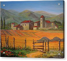 Tuscan Farm Acrylic Print by Italian Art