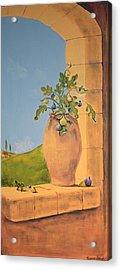 Tuscan Figs Acrylic Print by Yvonne Ayoub