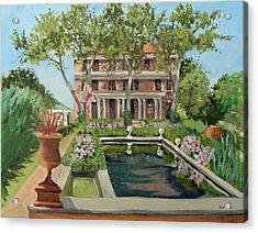 Tuscan Garden, Snug Harbor, S.i. Acrylic Print by Mafalda Cento