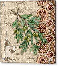 Tuscan Green Olives Acrylic Print