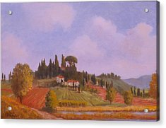 Tuscan Hillside Acrylic Print by David Olander