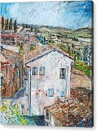 Tuscan House Acrylic Print by Joan De Bot