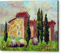 Tuscan House With Hay Acrylic Print