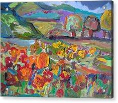 Tuscan Landscape Acrylic Print by Marlene Robbins