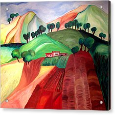 Acrylic Print featuring the painting Tuscan Landscape by Patricia Arroyo