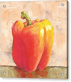 Acrylic Print featuring the painting Tuscan Orange Pepper by Pam Talley