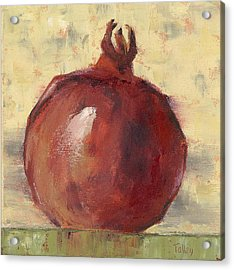 Acrylic Print featuring the painting Tuscan Pomegranate by Pam Talley