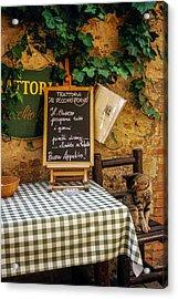 Tuscan Restaurant Patron Acrylic Print by Andrew Soundarajan