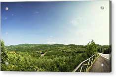 Tuscan Roads Acrylic Print by Devin Hultgren