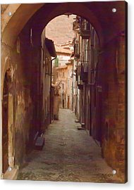 Acrylic Print featuring the photograph Tuscan Side Street by Michael Flood