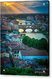 Tuscan Sunbeams Acrylic Print