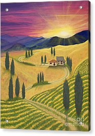 Tuscan Sunset B Acrylic Print