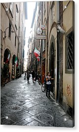Tuscan Town Of Lucca Acrylic Print by  K Scott Williamson