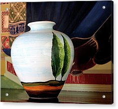 Tuscan Vase And Tapestry Acrylic Print
