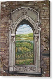 Tuscan View Acrylic Print by Diann Baggett