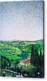 Tuscan View Acrylic Print by Jason Charles Allen