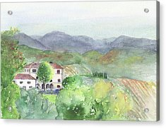 Tuscan Vineyards Acrylic Print