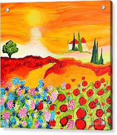 Tuscan Wildflowers Acrylic Print