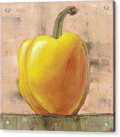 Acrylic Print featuring the painting Tuscan Yellow Pepper by Pam Talley